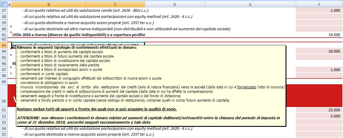 Esempio 1 note compilazione